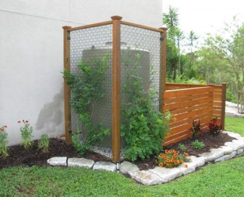 Use rainwater collection barrel to prevent runoff