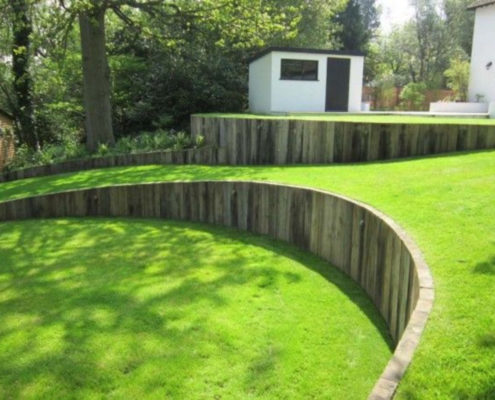 Add retaining wall to prevent runoff