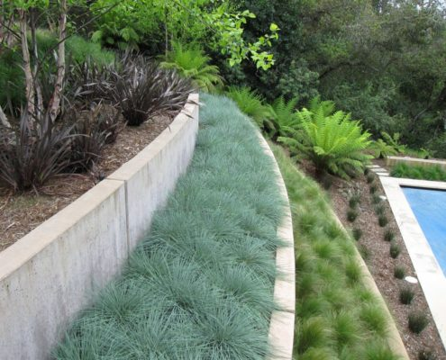 Using terracing and retaining walls to stop runoff