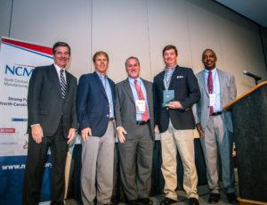 Mirimichi Green receives NCMEP Leadership Award at mfgCON 2017.
