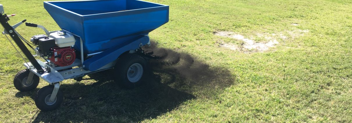 topdressing with soil enhancer