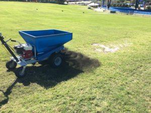 topdressing with soil enhancer